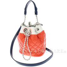CHANEL Multicolor Leather Italy 2way Handbag Drawstring Bag Authentic 47... - $2,398.75