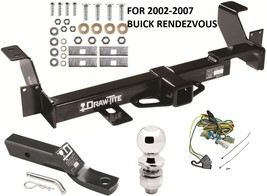 2002-2007 BUICK RENDEZVOUS COMPLETE TRAILER HITCH PACKAGE W/ WIRING KIT ... - $234.53