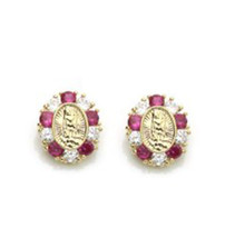 14K Gold Earrings Guadalupe Screw Back On Sale ! - $45.86