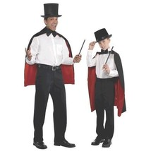 Adult Black Red Magician Cape One size standard - $21.99