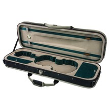 SKY 4/4 Full Size Violin Oblong Lightweight Case with Hygrometer Black/W... - $89.09