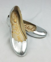 Sam Edelman women 7.5 Finnegan silver metallic flats round toe   - $42.25