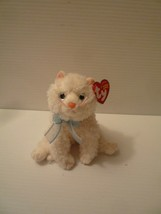 Ty Beanie Babies - Muff The Fluffy Cream Colored Cat 2004 Mint with Tags - $14.85