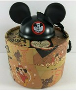 Disney Parks 2018 Christmas Ornament Mickey Mouse Club Ears Hat w Gift Box - $29.69
