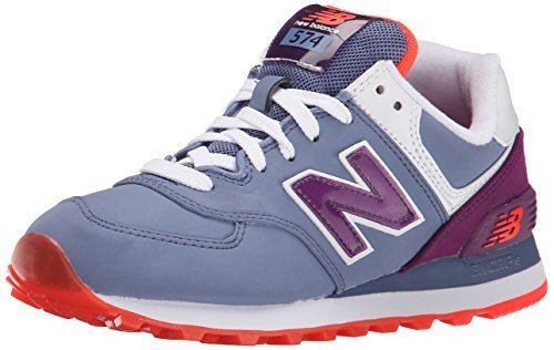 New Balance Women's WL574 Glacial Pack Running Shoe, Slate/Berry, 5.5 B US