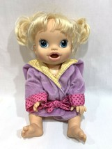 Baby Alive Hasbro 2013 Blonde Doll Interactive Talking Bilingual English... - $24.74
