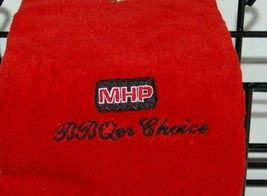 MHP Red Towel with Clip Black Plastic Coated Accessory Rack image 2