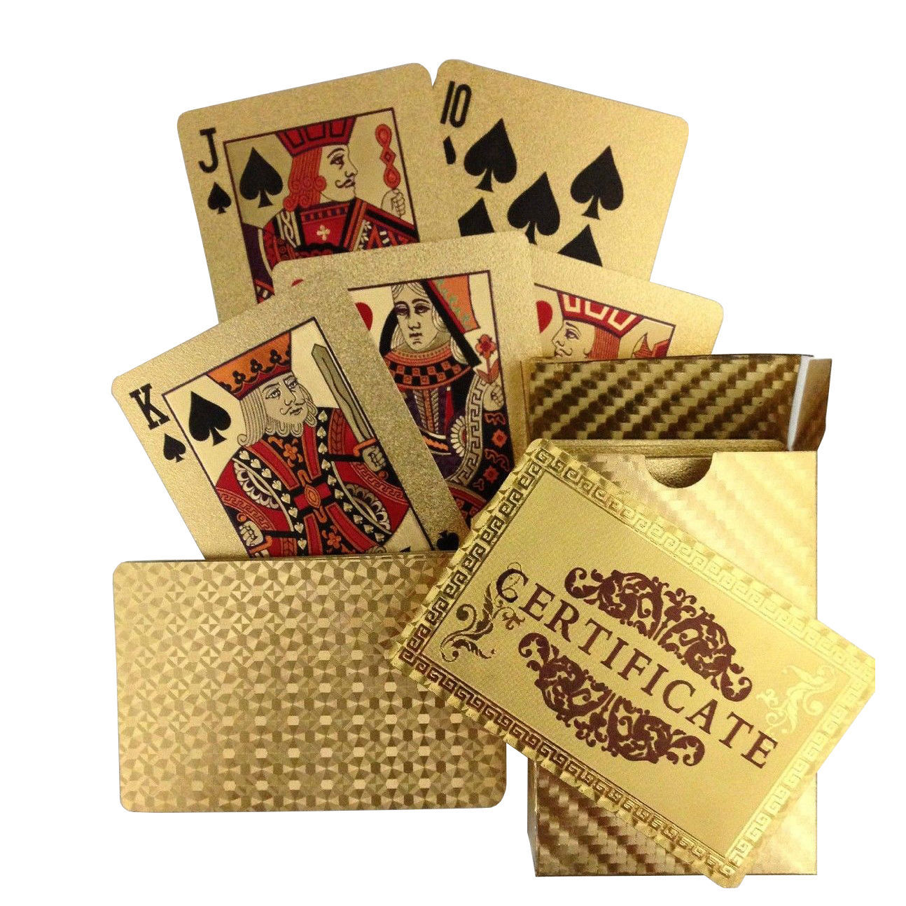 Primary image for 24 Carat 99.9% Gold Plated Playing Cards