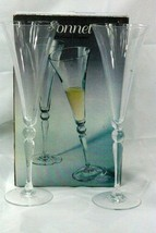 Cristal D Arques Sonnet Set Of 2 Champagne Flutes In Box - $11.47