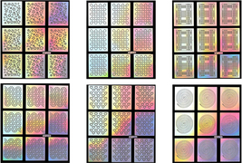 24 Sheets Laser Nail Art Guide Tips Hollow Stencil Sticker Template Vinyls Decor image 5