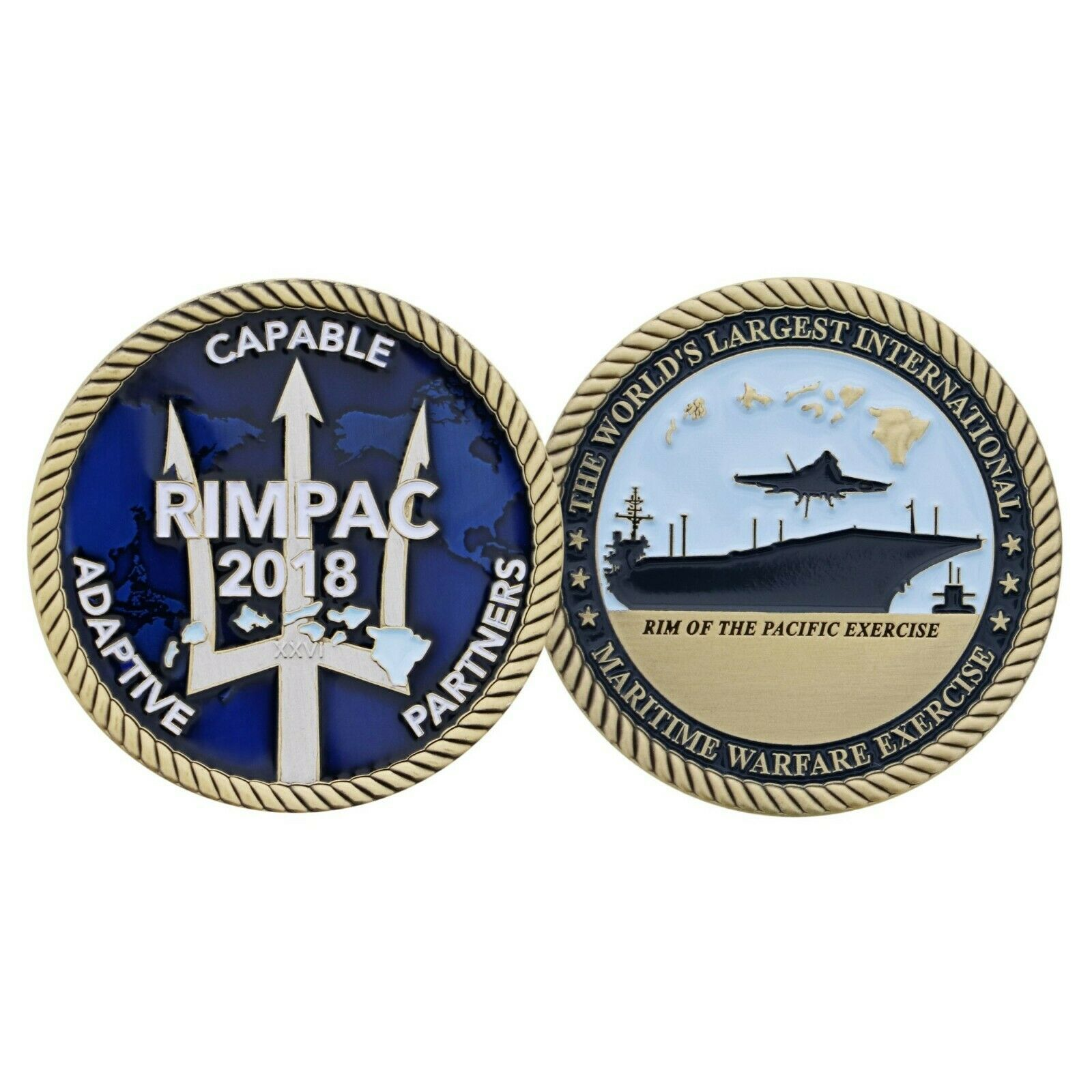 "2019 RIMPAC CAPABLE ADAPTIVE PARTNERS 1.75""  CHALLENGE COIN"