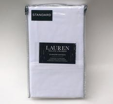Ralph Lauren 300TC Dunham Sateen White Standard Pillow Case Set  - $22.97