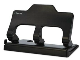 NEW Universal 74325 Touch-Assist 3-Hole Punch 30Sheet Capacity Black - $16.43