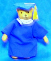 Collectible Vintage Mini China Graduation Bear by Russ Berrie & Co., Inc. - $9.50