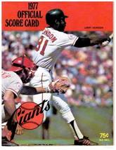 SAN FRANCISCO GIANTS, BASEBALL OFFICIAL SCORE CARD MAGAZINE PROGRAM - $11.88