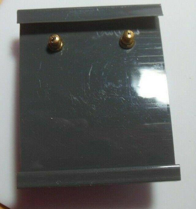 Trifari TM Gold-tone Black Dangle Surgical Steel Post Earrings