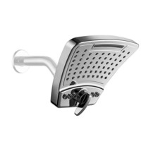 Pulse 3-Spray 6 in. Single Wall Mount Fixed Rain Shower Head in Chrome - $49.99