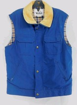 Woolrich Quilted Navy Blue Large Sleeveless Full Zip Vest - $30.86