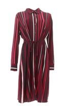 Susan Graver Printed Liquid Knit Shirt Dress Wine Berry S NEW A347107 - $51.46