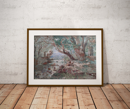 "Vintage embroidered painting ""Russian forest"", Embroidered tapestry, emb... - $1,899.00"