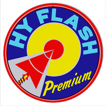 Hy Flash Premium Motor Oil Reproduction Sign 14 Round - $25.74