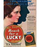 Lucky Strike Cigarette Ad 1930s POSTER 24 X 36 Inches - $18.80