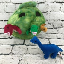 Unipak Dinosaur Pod With 4 Plush Animals T-Rex Stegosaurus Long-Neck Sof... - $19.79