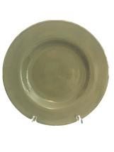 "1 Lucca Signature Housewares 11.25"" Dinner Plate Moss Green Farmhouse *H... - $11.87"