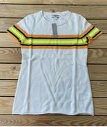 j crew NWT women's short sleeve striped cashmere sweater Size S Cream Ye... - $58.41