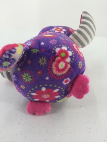 """Mary Meyer Plush Owl Purple Pink Floral Flowers Stuffed Toy 7"""" Tall image 8"""
