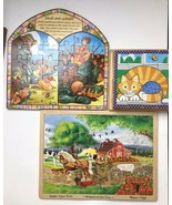 Melissa & Doug Lot Of 3 Wooden Jigsaw Puzzles - $17.77