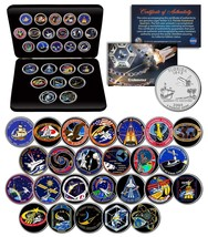 SPACE SHUTTLE ENDEAVOR MISSIONS NASA Florida Statehood Quarters 25-Coin ... - $69.25