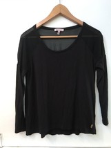 Juicy Couture Women's Black Top With Sheer Shoulder Back Panel L/S Shirt XS - $15.95