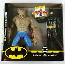"""Mattel DC Batman Missions Batman vs Man-Bat 12"""" Poseable Action Figures  - $29.69"""