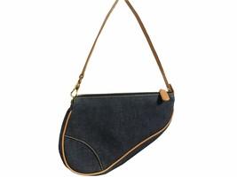 Christian Dior Denim Saddle Bag Blue - $422.03