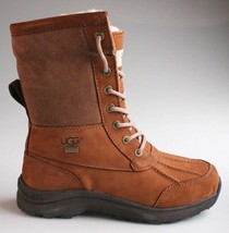 UGG Womens Chestnut Brown Leather Adirondack III Winter Snow Boots 1017430 NIB image 2