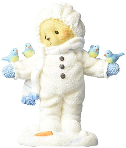 Enesco Cherished Teddies Collection Bear Wearing Snowsuit Figurine, 4""