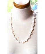 Art Deco Givre Glass Bead Abstract Vintage Necklace - $17.69