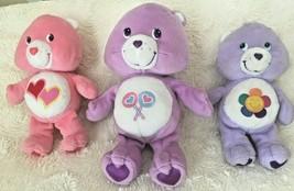 Care Bears Plush Dolls Harmony Bear Share Bear Love A Lot Bear Preowned ... - $10.99