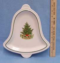 Pfaltzgraff Christmas Tree Bell Shaped Dish Tray Platter Plate - $13.85