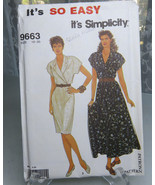 Vintage 1990 Simplicity 9663 Misses Dress in two Lengths Sewing Pattern ... - $8.00