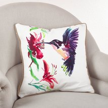Fennco Styles 18-inch Humming Bird Down Filled Throw Pillow - 100% Cotto... - $39.59