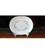 Corning Callaway Green Ivy Oval Serving Platter Corelle 10 x 12 White Sw... - $25.49