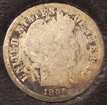 1899-S Silver Barber Dime LOW MINTAGE AG/G #0159 - $8.59