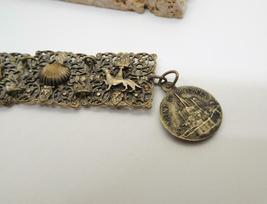 Vintage French Silver Filigree Mont St Michel Charm Panel Bracelet U36 image 4