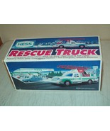 1994 Hess Toy Truck Rescue Truck FACTORY MINT new Tested Working with in... - $31.68