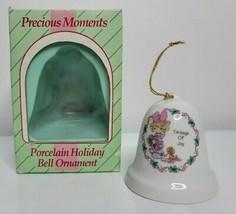 Tidings of Joy Bell  Porcelain PRECIOUS MOMENTS Christmas Holiday Ornament  - $8.99