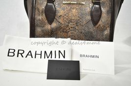 NWT Brahmin Small Lena Leather Satchel/Shoulder Bag in Brown Barrow image 11