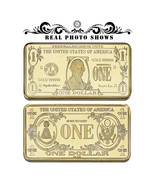 WR Gold Art Bar US 1 Dollar Banknote Design Collectible Ingot Bullion Pr... - $4.49