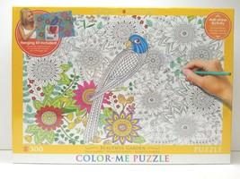 Color Me Puzzle Beautiful Garden 300 Pcs EuroGraphics Anti Stress Activi... - $25.73